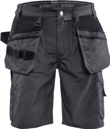 Blaklader 1526 Craftsman Shorts Lightweight (Dark Grey/ Black)